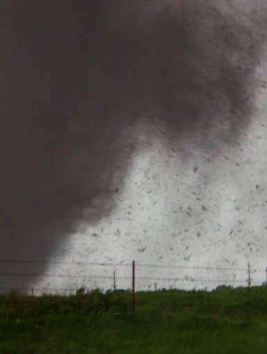 EF-5 Tornado rips through Moore, Oklahoma on May 20, 2013. This tornado was rated EF-5