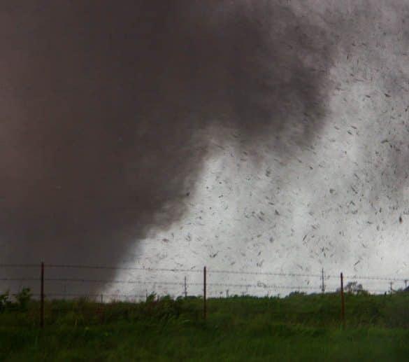 EF-5 Tornado rips through Moore, Oklahoma on May 20, 2013. This tornado was rated EF-5