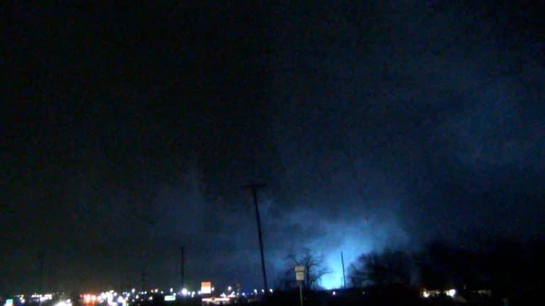 Tornado near Rowlett, Texas on December 26, 2015. This tornado was rated EF-4.