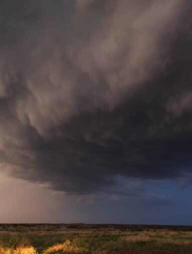 Thunderstorm in Texas in June 2016