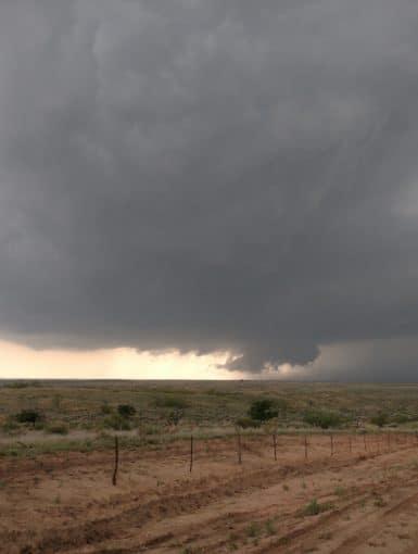 Storm near McLean, Texas that would eventually lead to the Wheeler, Texas Tornado
