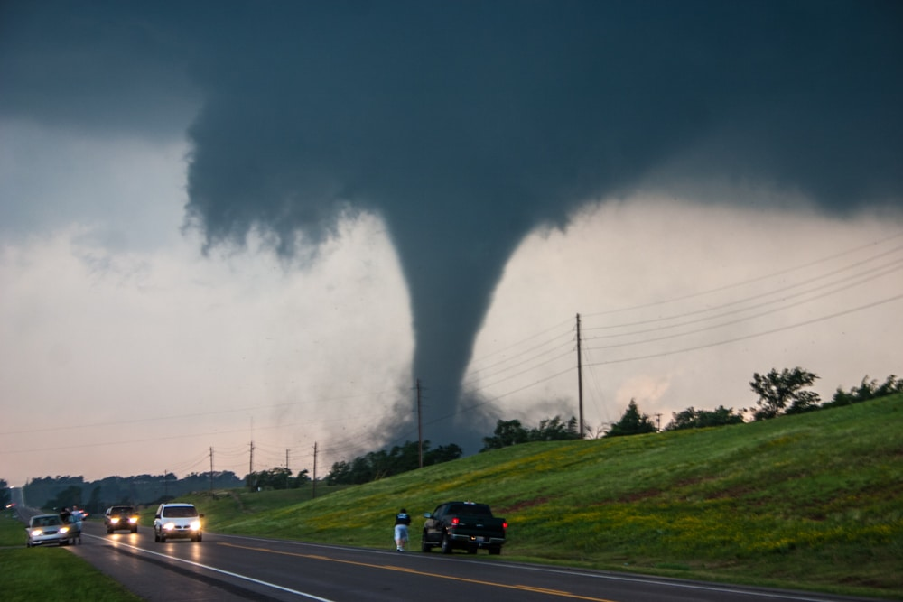 Ben Holcomb in front of the Chickasha Tornado May 24, 2011