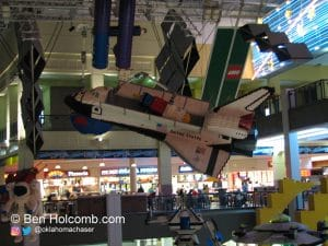 Space Shuttle made out of legos
