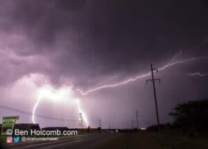 Lightning near Ardmore in May 2012