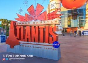 Space Shuttle Atlantis exhibit