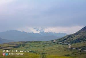 We got a partial view of Denali