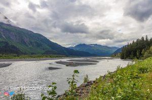Driving towards Exit Glacier, AK Kenai Fjords National Park