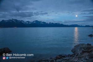 Moon over Resurrection Bay