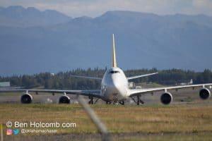 Polar 747 taxiing