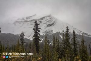 Snow covered mountain in Banff NP