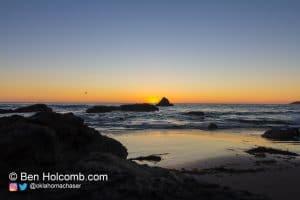 San Simeon, CA Sunset