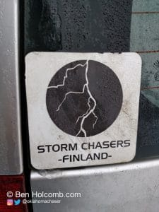 Storm Chasers Finland Sticker on Jari's Car