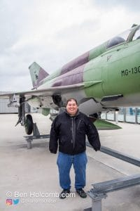 Me and a Mikoyan-Gurevich MiG-21