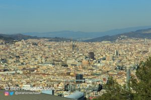 Looking towards Sagrada Familia from the Castle