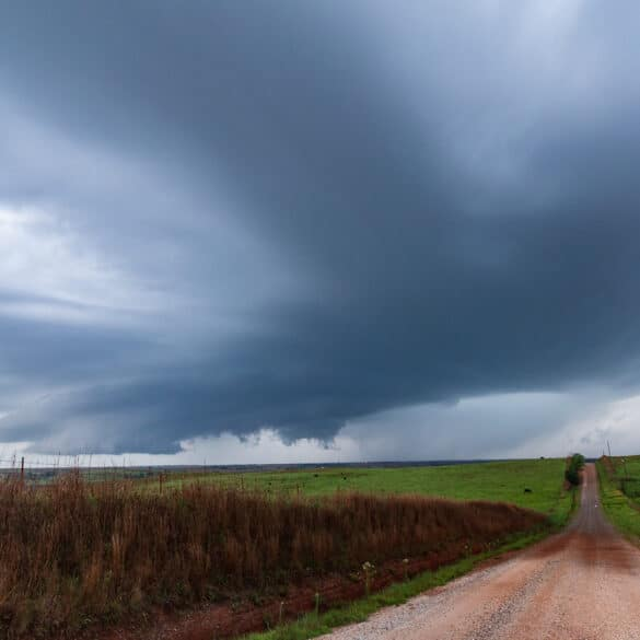 Funnel in Custer County Oklahoma