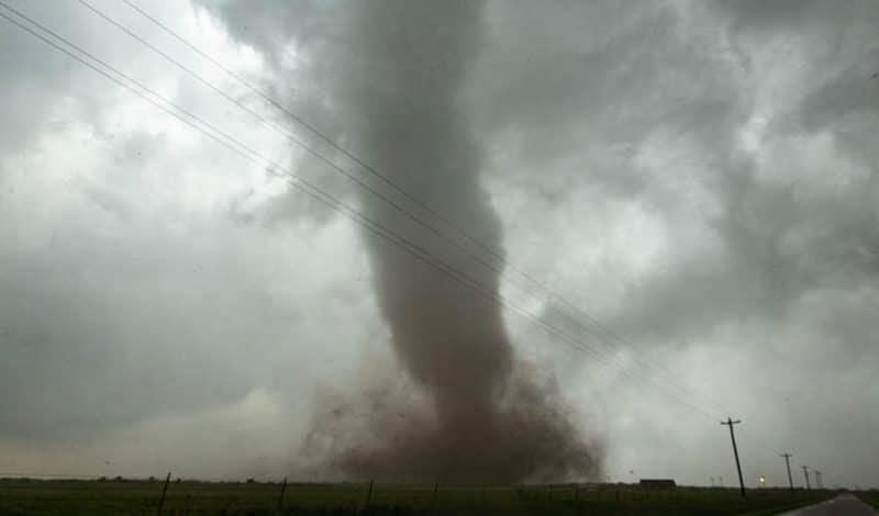 Tornado rips through the northwest side of Mangum, OK on May 20, 2019.