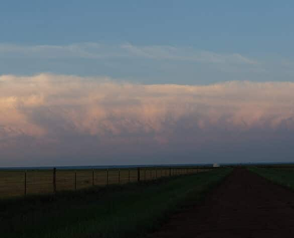 Storms to my east at Sunset in the Texas Panhandle