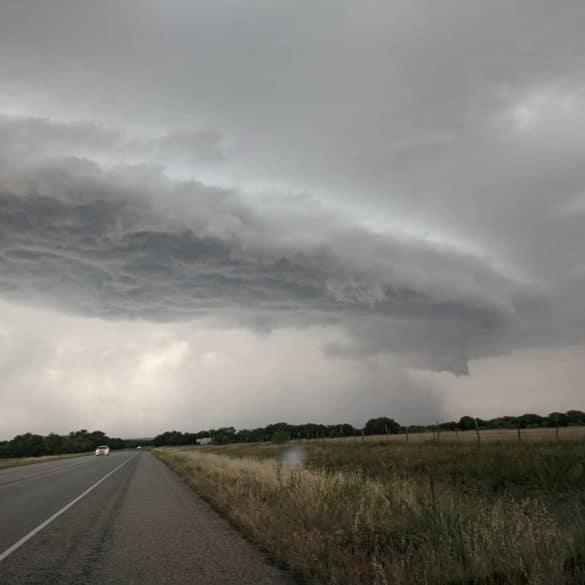 Shelf Cloud nearing Mason, Texas on May 27, 2020.