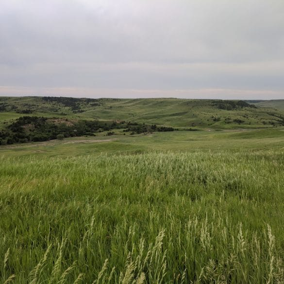 Overlooking the Missouri River Valley in South Dakota along highway 44