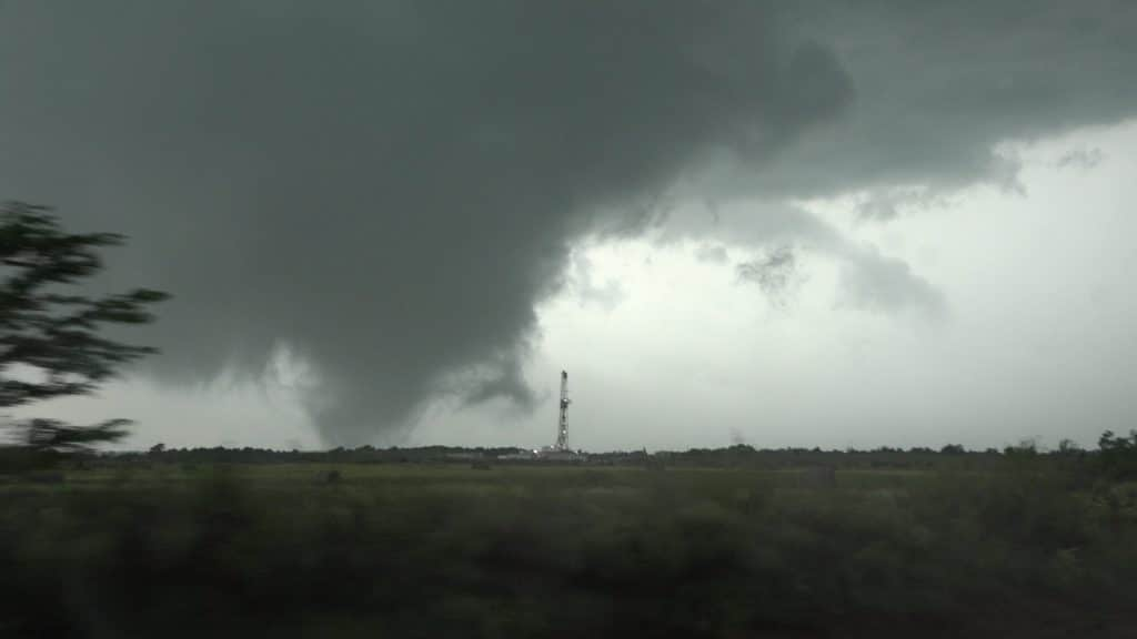 Tornado and Oil Rig