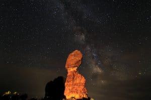 Milky Way Balanced Rock
