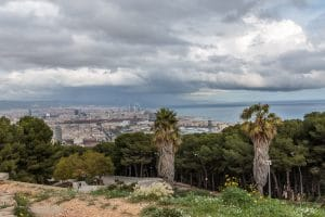 Barcelona with storm