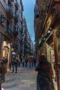 Barcelona shopping area