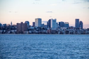 Boston Skyline from the water