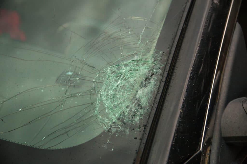 My smashed windshield