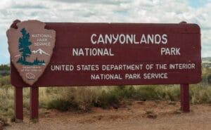 Canyonlands National Park sign