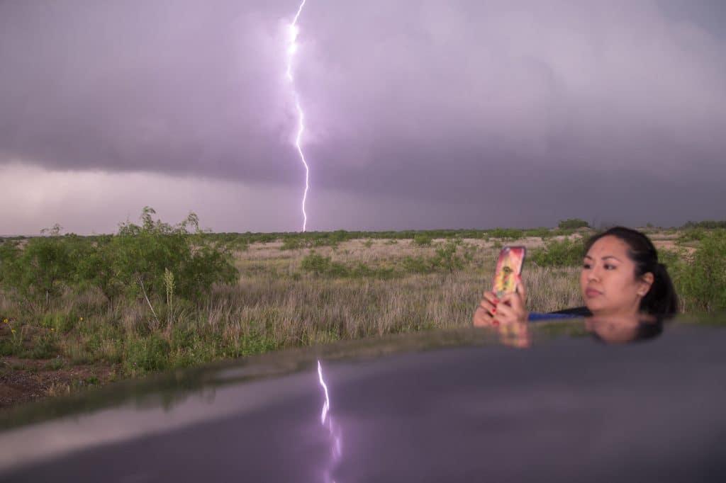 Accidental lightning shot
