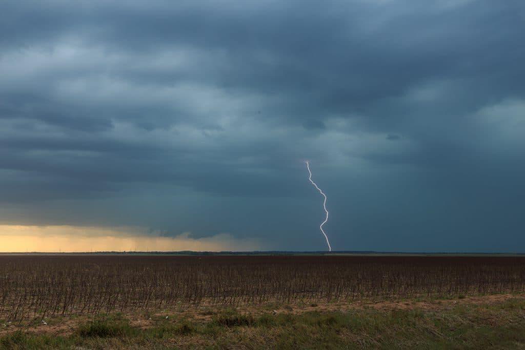 Daytime lightning near Frederick
