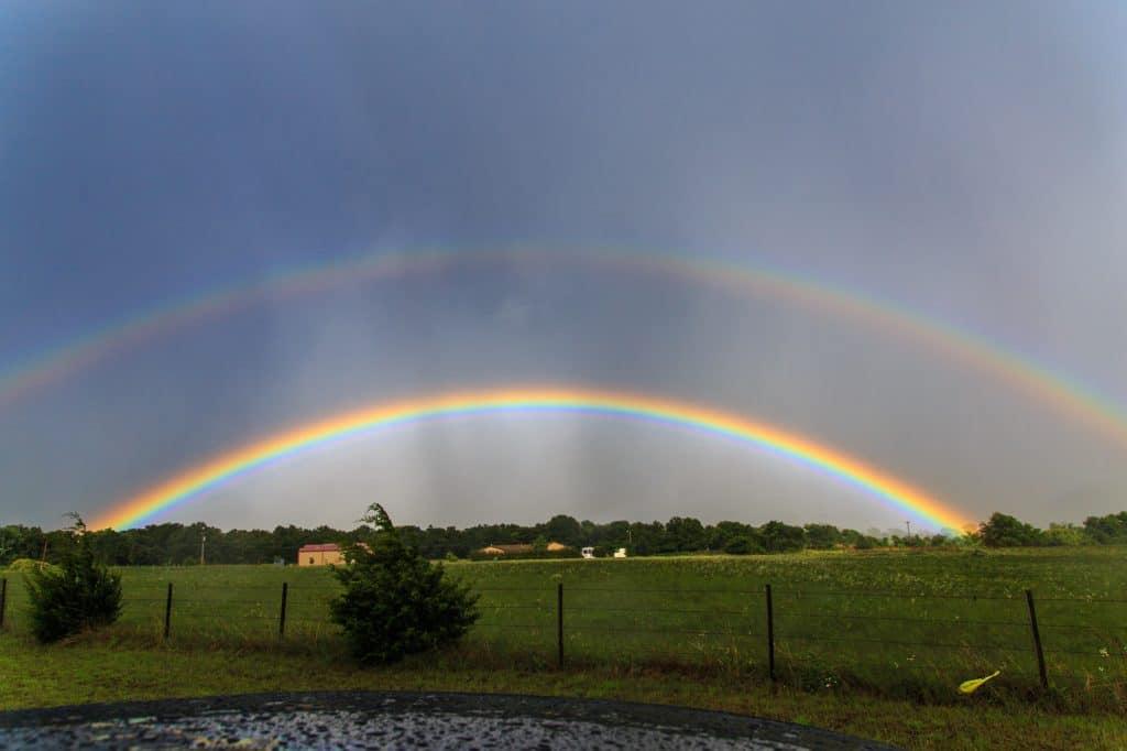 Brilliant double rainbow