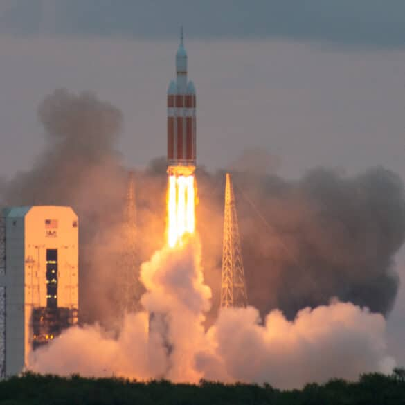 Orion EFT-1 Launch viewed from the NASA Parkway as part of the NASA Social event