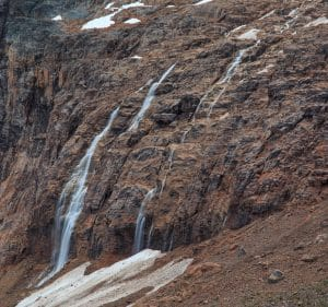 Edith Cavell Mountain Waterfalls