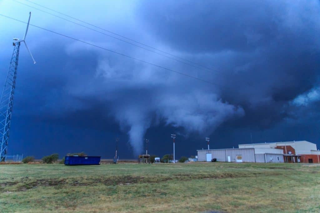 Eva High School and Tornado