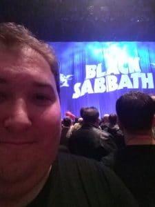 Me at the Final Sabbath Show
