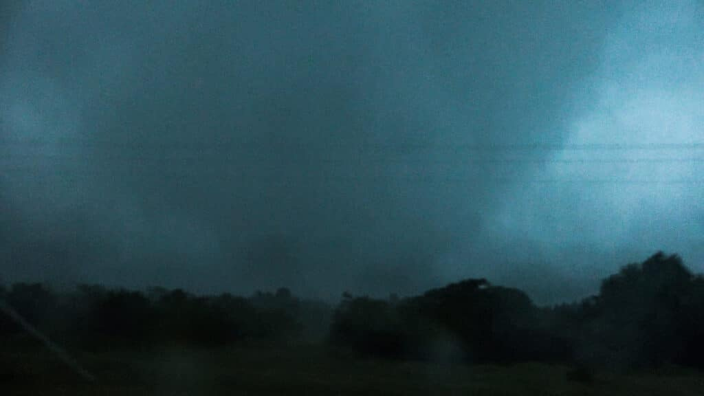 Large cone tornado