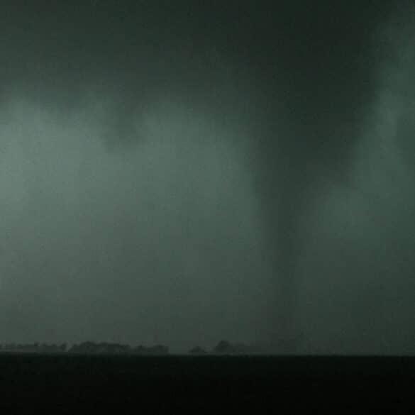 Tornado near Harmon, Illinois on the evening of June 22, 2015 in a highly high precipitation supercell near Harmon, Illinois.