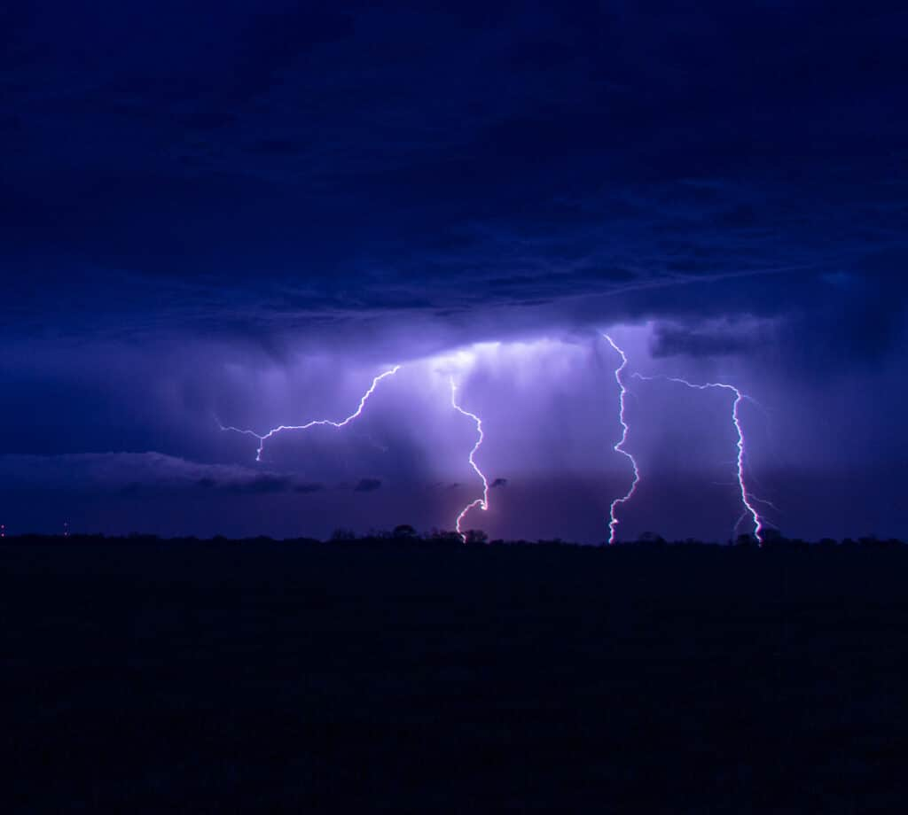 Lightning in Oklahoma