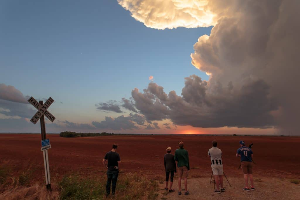 Storm Chasers watching the storm