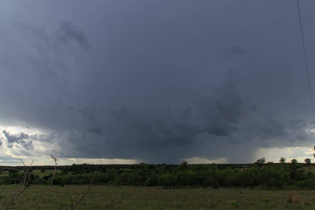 Storm in infancy stage south of Chickasha