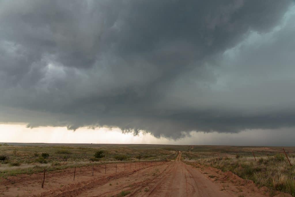 Wall Cloud near McLean Texas