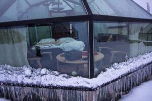 Inside the igloos