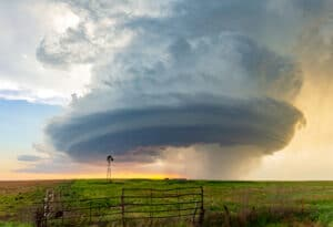 Sculpted supercell in Hodgeman County, Kansas on June 3, 2015. This beautiful mothership structure was documented by few chasers.