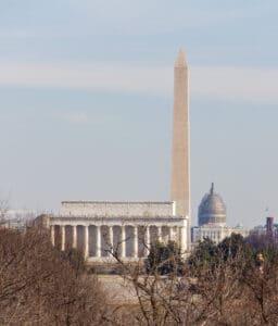 Lincoln Memorial, Washington Memorial and Capital