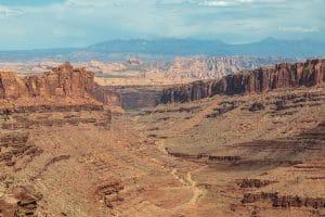 Looking back through Long Canyon