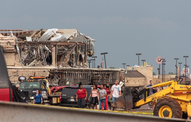 Moore Medical Center destroyed by the Moore Tornado 2013