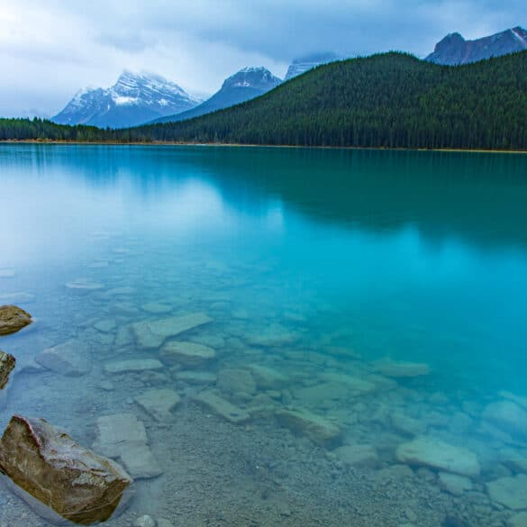 Waterfowl Lakes in Banff National Park of Canada