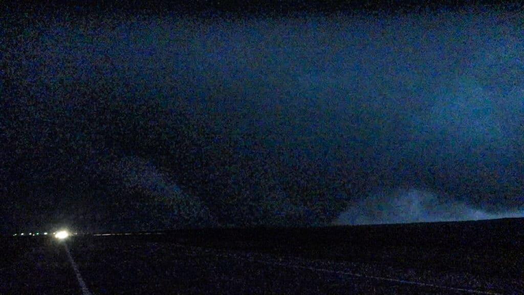 First tornado near Plains, KS